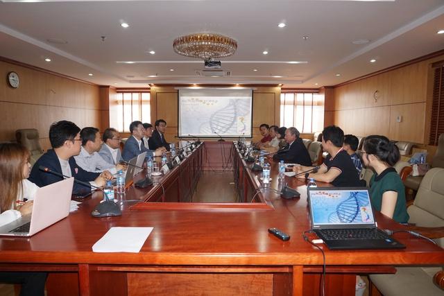 Toàn cảnh buổi làm việc giữa Tổng cục DS-KHHGĐ và công ty Biogeno (Hàn Quốc). Ảnh: N.Mai