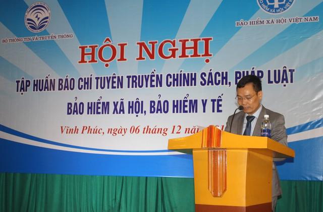 Ông Đặng Khắc Lợi - Phó Cục trưởng Cục Báo chí phát biểu tại hội nghị.