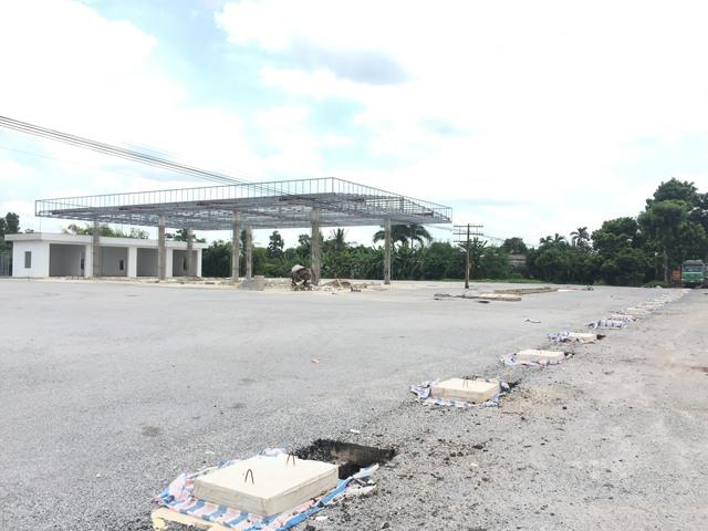 Công trình xây dựng trái phép có thiết kế giống cây xăng của Công ty Trường Phú