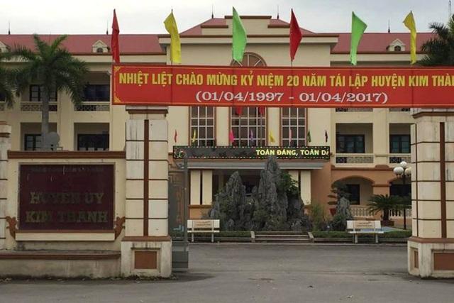 Huyện uỷ Kim Thành, nơi xảy ra có nhiều người nhà Bí thư, Phó bí thư thường trực làm cùng cơ quan. Ảnh: Đ.Tuỳ