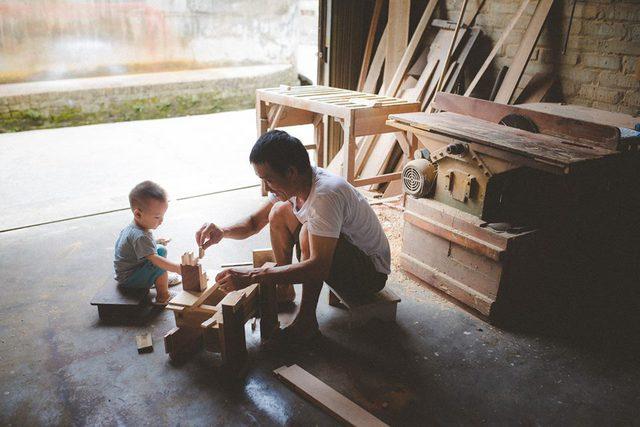 Chị Linh mong rằng, bộ ảnh sẽ là lời tri ân chân thành tới bố mẹ trong Ngày của cha. Ảnh: T.Minh