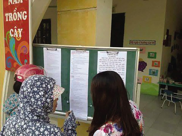 Kết quả kiểm tra tiền trường ở Hà Nội đã buộc nhiều trường học trả lại tiền thu sai cho phụ huynh. Ảnh minh họa: Q.Anh