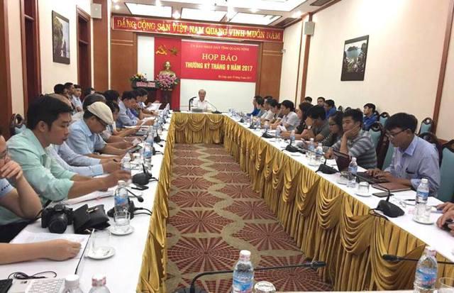 Hội nghị họp báo thường kỳ tháng 9 của tỉnh Quảng Ninh.