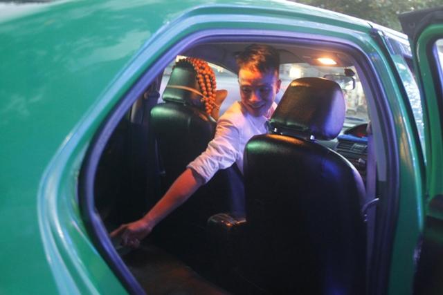 Anh Nhật - tài xế taxi kể lại sự việc hi hữu.