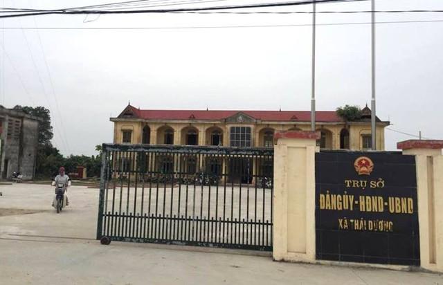 Trụ sở UBND xã Thái Dương, nơi ông Thường công tác. Ảnh: Đ.Tùy