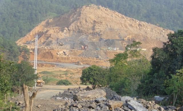 Một góc dự án sân golf nằm tại địa phận thị trấn Ba Sao, Kim Bảng, Hà Nam. Ảnh: Huyền Chi