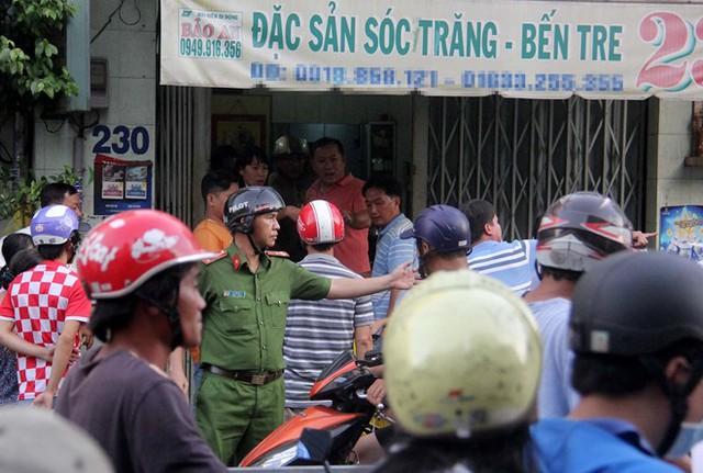 Căn nhà chủ tiệm bánh pía bị bắn chết. Ảnh: Lê Trai