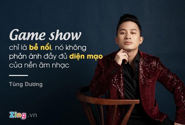 Quan điểm của Tùng Dương là game show chỉ là bề nổi, do vậy, không phản ánh đầy đủ diện mạo của nền âm nhạc. Kết quả game show không phải lúc nào cũng hồn nhiên và công bằng.