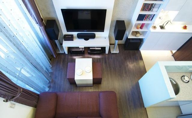 Phòng khách đẹp sang trọng không kém những căn hộ cao cấp.
