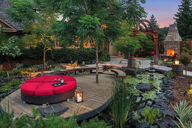 Khu vườn đẹp sâu lắng và tĩnh tại thuần chất Á Đông.
