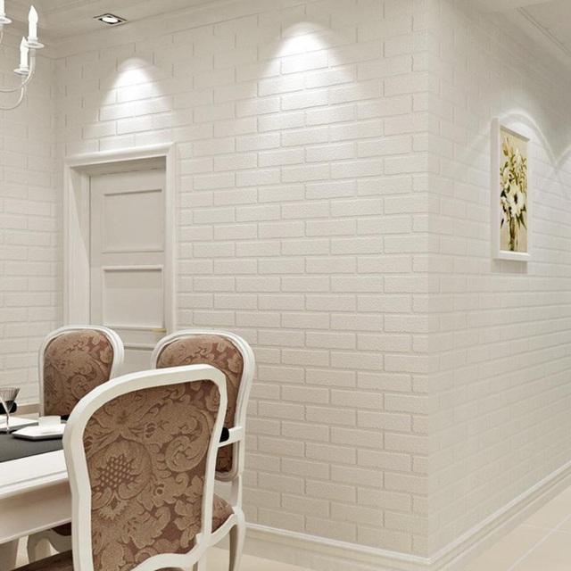 Xốp dán tường giả gạch đang được ưa chuộng trong trang trí nội thất.