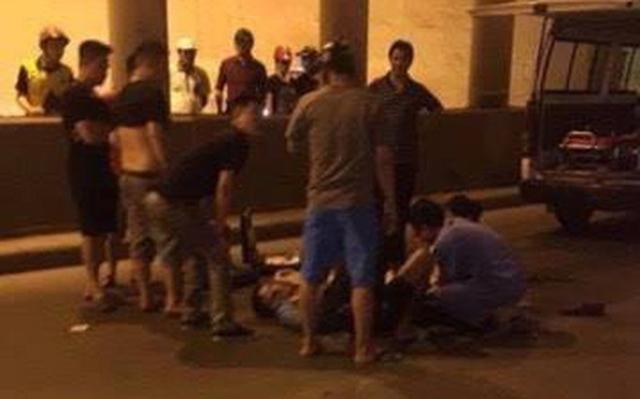 Nam thanh niên bị thương nặng sau vụ tai nạn. (Ảnh: Beat.vn)