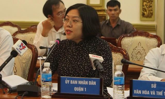 Bà Nguyễn Thị Thu Hường, Phó chủ tịch UBND quận 1 thông tin về ông Đoàn Ngọc Hải