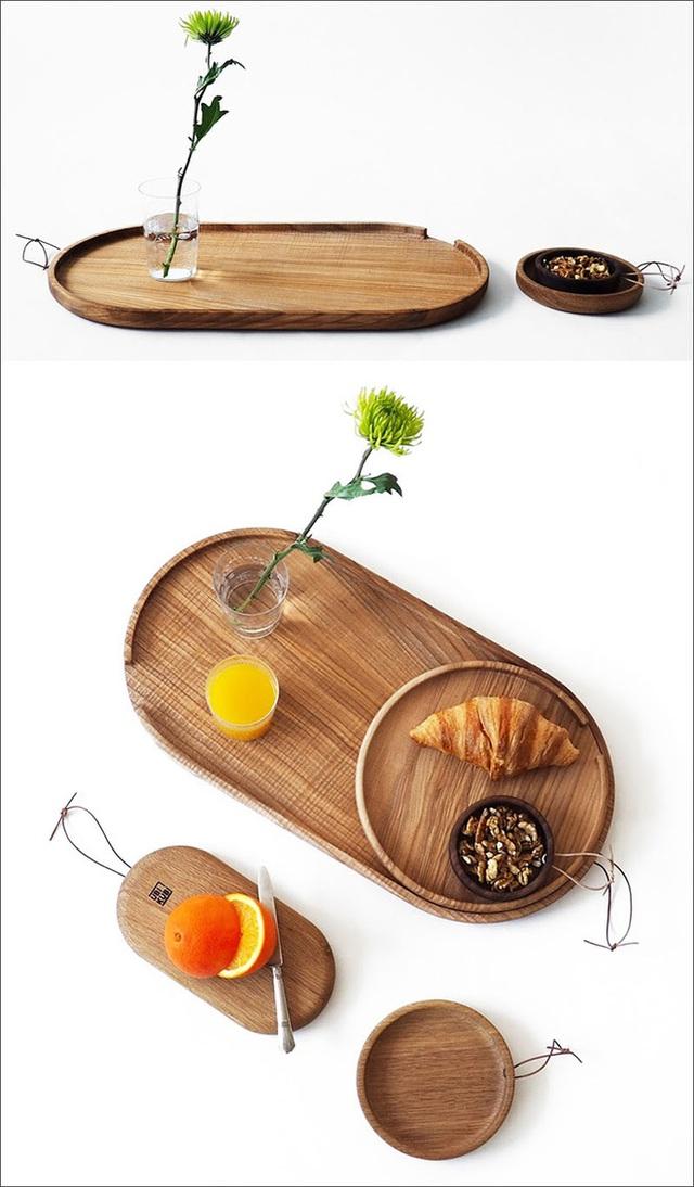 1. Chiếc đĩa được làm từ chất liệu gỗ tự nhiên mang đến cảm giác thân thiện, an toàn cho người sử dụng.