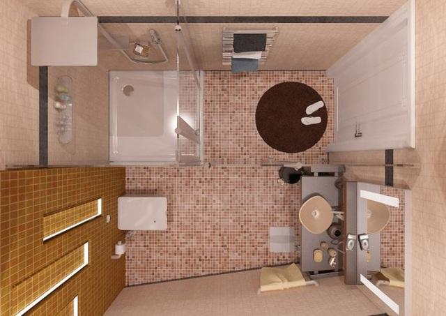 Ở thiết kế này điểm nhấn đặc biệt là phòng tắm được sử dụng kính trong suốt giúp không gian đỡ bí hơn tạo cảm giác thoải mái cho người sử dụng.