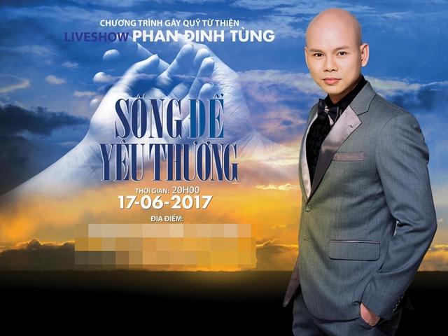 Tấm poster chương trình có sự xuất hiện của Phan Đinh Tùng. Khán giả khá bức xúc trước cách ứng xử của nam ca sĩ với đàn em trên sân khấu.