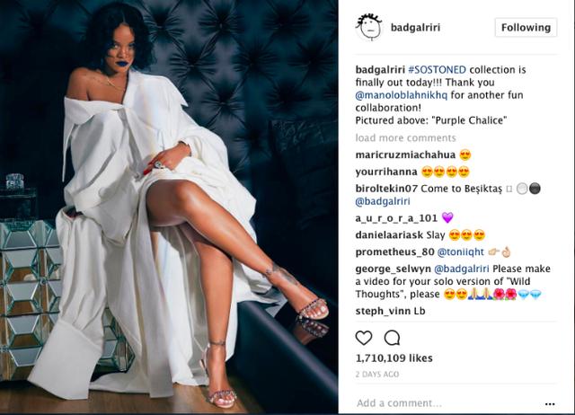 Thiết kế váy trắng oversize của nhà thiết kế Công Trí được Rihanna mặc để chụp hình quảng quá cho bộ sưu tập So Stoned.