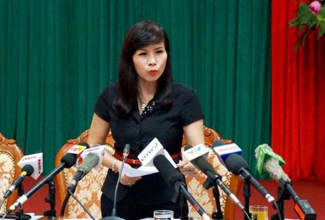 Bà Lê Mai Trang, Phó chủ tịch UBND quận Thanh Xuân. Ảnh: Báo Chất lượng Việt Nam.