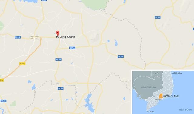 Vụ việc xảy ra tại thị xã Long Khánh, Đồng Nai. Ảnh: Google Maps.