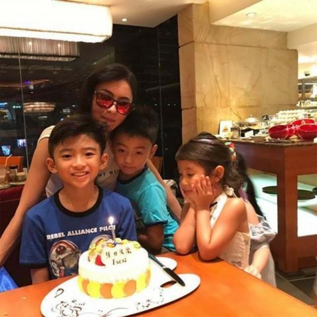 Tạ Đình Phong vắng mặt trong sinh nhật con. Ảnh: News