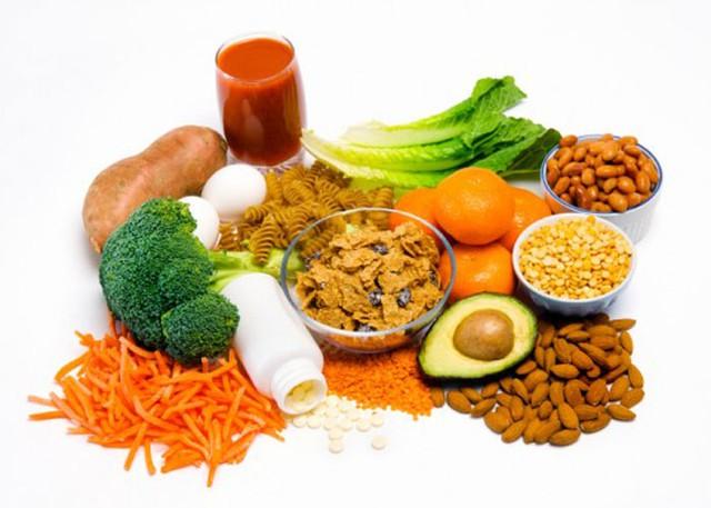 Những thực phẩm giàu acid folic.