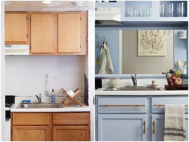 1. Cách thiết kế bếp theo kiểu thông thường từ màu sắc đến kiểu dáng đã trở nên nhàm chán và lỗi mốt, không thể tạo sự tinh tế và rộng rãi cho không gian. Thay vào đó bạn nên chọn lại với gam màu sáng, một vài điểm nhấn từ vật dụng và gạch ốp tường để không gian nấu nướng hài hòa hơn.