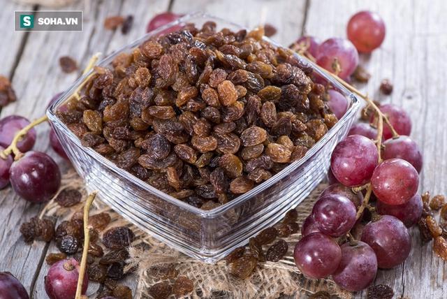 Nho khô chứa chất xơ, kali và các hợp chất thực vật, tăng cường sức khỏe