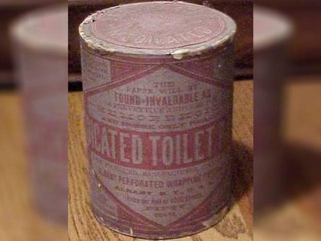 Hình ảnh những cuộn giấy vệ sinh đầu tiên trên thế giới.