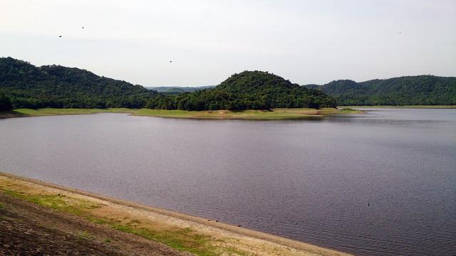 Hồ chứa nước Phú Xuân, nơi thầy giáo Mai Hữu Tấn chẳng may bị đuối nước