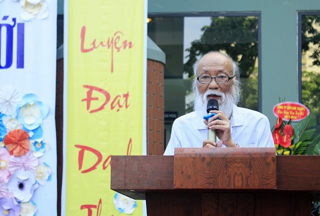 Nhà giáo Văn Như Cương (Chủ tịch Hội đồng nhà trường, trường THPT Lương Thế Vinh, Hà Nội) chia sẻ trong buổi lễ khai giảng.