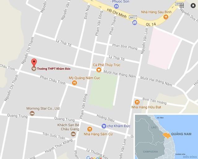 Trường THPT Khâm Đức, nơi xảy ra vụ án. Ảnh: Google Maps.