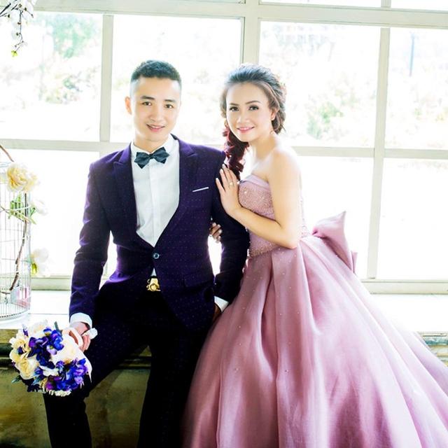 Ảnh cưới của vợ chồng diễn viên Hoàng Yến. Ông xã của nữ diễn viên tên Cao Thắng, sinh năm 1979, kém cô 3 tuổi.