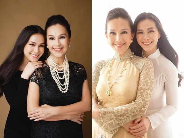 Diễm My và cô con gái lớn Thùy My năm nay đã 22 tuổi và rất ra dáng phụ nữ Việt.