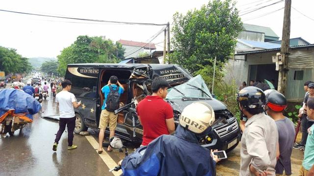 Hiện trường xảy ra tai nạn.