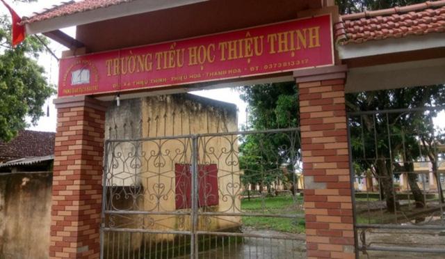 Trường Tiểu học Thiệu Thịnh (huyện Thiệu Hóa, Thanh Hóa) cũng bị tố về việc học thêm núp bóng Câu lạc bộ