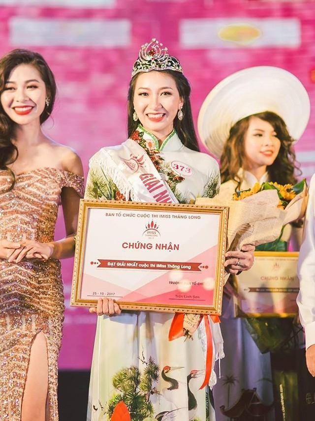 Thu Trang đăng quang Hoa khôi iMiss Thăng Long 2017