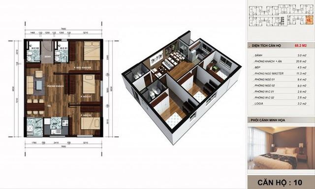 Bản vẽ hiện trạng căn hộ.