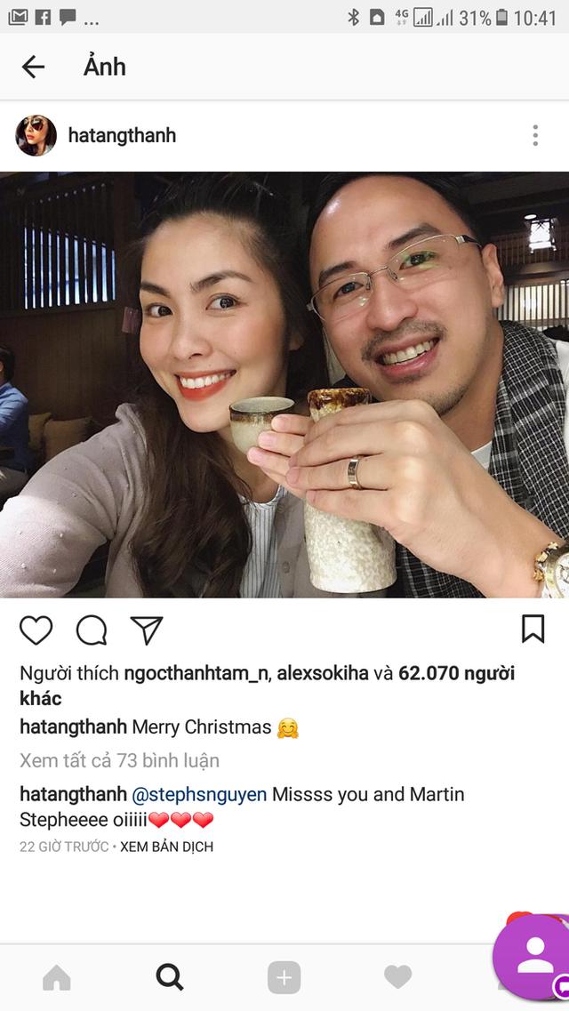 Lâu lắm rồi Tăng Thanh Hà mới công khai vai kề vai má kề má với chồng đại gia thế này