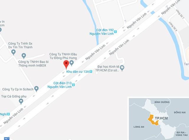 Vị trí gần nơi hiện trường vụ án. Ảnh: Google Maps.