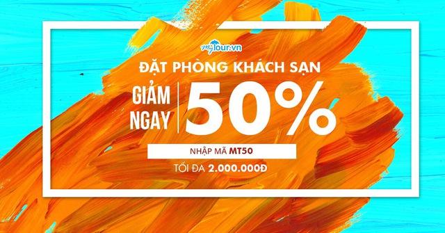 Tưng bừng đón lễ 30/4, tha hồ du lịch với chi phí cực rẻ khi áp dụng mã giảm giá 50% tại Mytour.vn - Ảnh: Mytour.vn