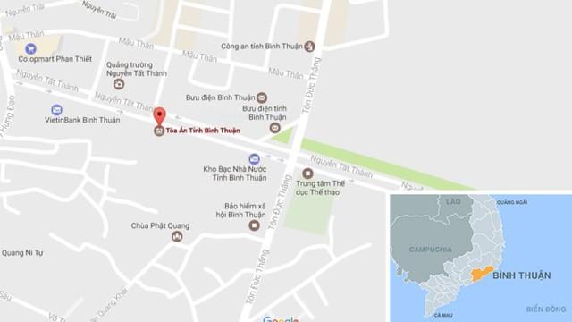 TAND tỉnh Bình Thuận sẽ chuyển tiền cho ông Huỳnh Văn Nén trong tuần này. Ảnh : Thiên Sơn.