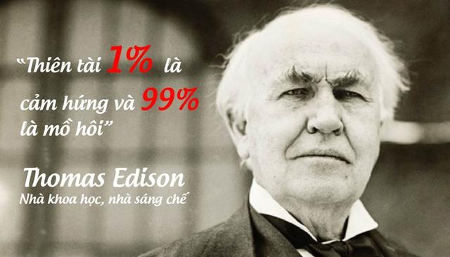 Nhà khoa học, nhà sáng chế, thương nhân vĩ đại Thomas Edison.