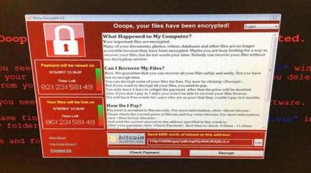 Thông báo của nhóm tin tặc đến nạn nhân bị nhiễm mã độc WannaCry.