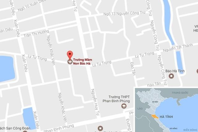 Trường Mầm non Bắc Hà (TP Hà Tĩnh), nơi xảy ra vụ việc. Ảnh: Google Maps.