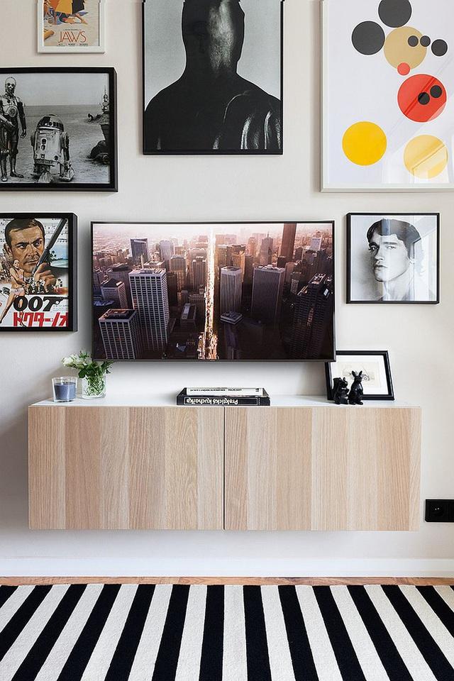 Sử dụng tông màu trắng - xam nhưng nhờ cái phối màu và sử dụng đồ trang trí hợp lý mà các không gian rất hợp lý và có điểm nhấn.
