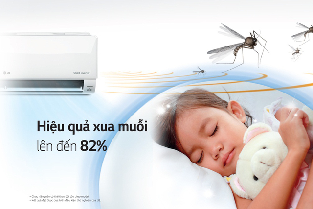 Lựa chọn điều hòa có tính năng xua muỗi để bảo vệ bé khỏi các bệnh lây truyền từ muỗi