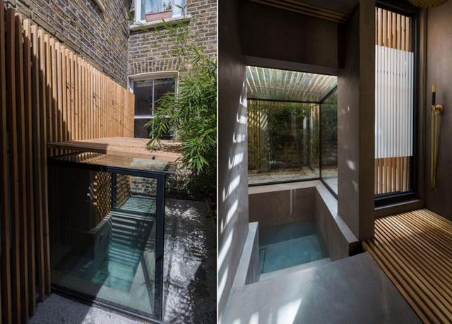 Khi thiết kế phần mở rộng nhà tại London, Kiến trúc House 304 chắc chắn sẽ giữ được nét duyên dáng như ban đầu, đồng thời tích hợp và bổ sung thêm nội thất hiện đại. Một trong những tính năng đáng chú ý nhất là bồn tắm chìm mà bạn có thể nhìn thấy ở đây, được đóng khung với các bức tường bằng kính và gỗ.