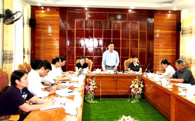 Ông Võ Thành Đông, Phó Tổng cục trưởng Tổng cục DS-KHHGĐ (Bộ Y tế) phát biểu chỉ đạo tại buổi làm việc