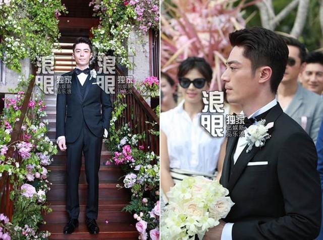 Hoắc Kiến Hoa thần sắc mệt mỏi và không nở nụ cười trong đám cưới.