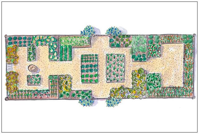 2. Nếu việc tạo luống đơn giản không đủ sức thuyết phục với những người mê vẻ đẹp nghệ thuật và sự cầu kỳ như bạn. Đặc biệt là khi bạn có một ngôi biệt thự nhìn thẳng xuống khu vườn. Hãy đầu tư một chút bằng cách tạo luống đầy ấn tượng với đường uốn khúc độc đáo.